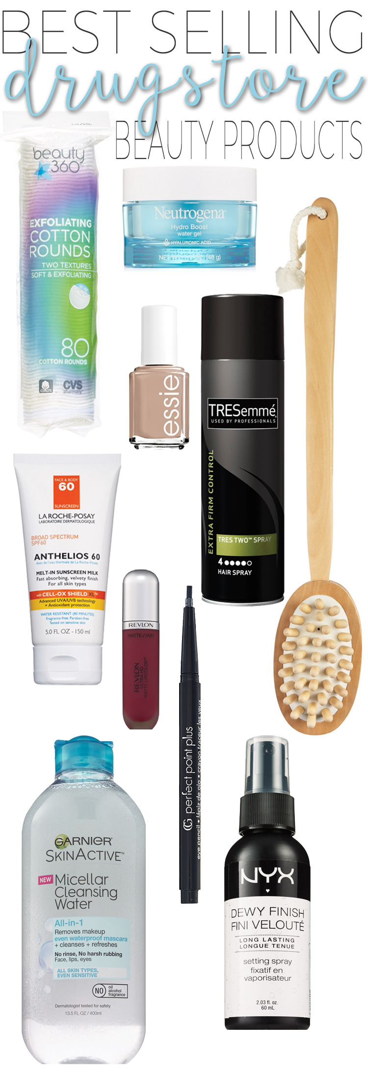 Top 10 Best-Selling Drugstore Beauty Products.