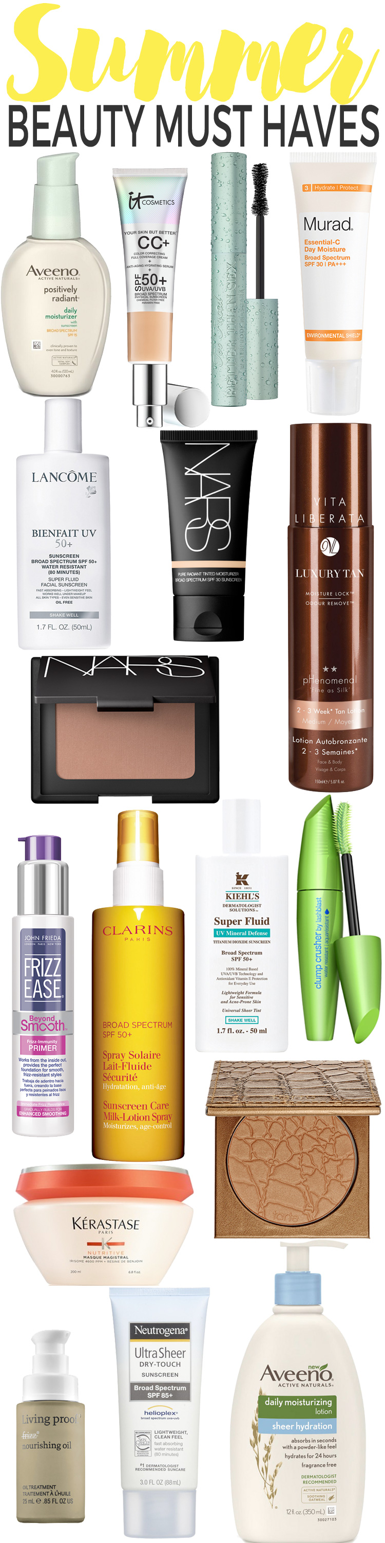 Summer Beauty Must Haves: Stock your makeup bag and beauty cabinet with these must-haves and be ready to take on summer at a moments notice!