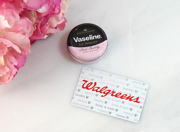 Win It! Enter for a chance to win a $25 Walgreens Gift Card + Vaseline Pink Bubbly Lip Therapy