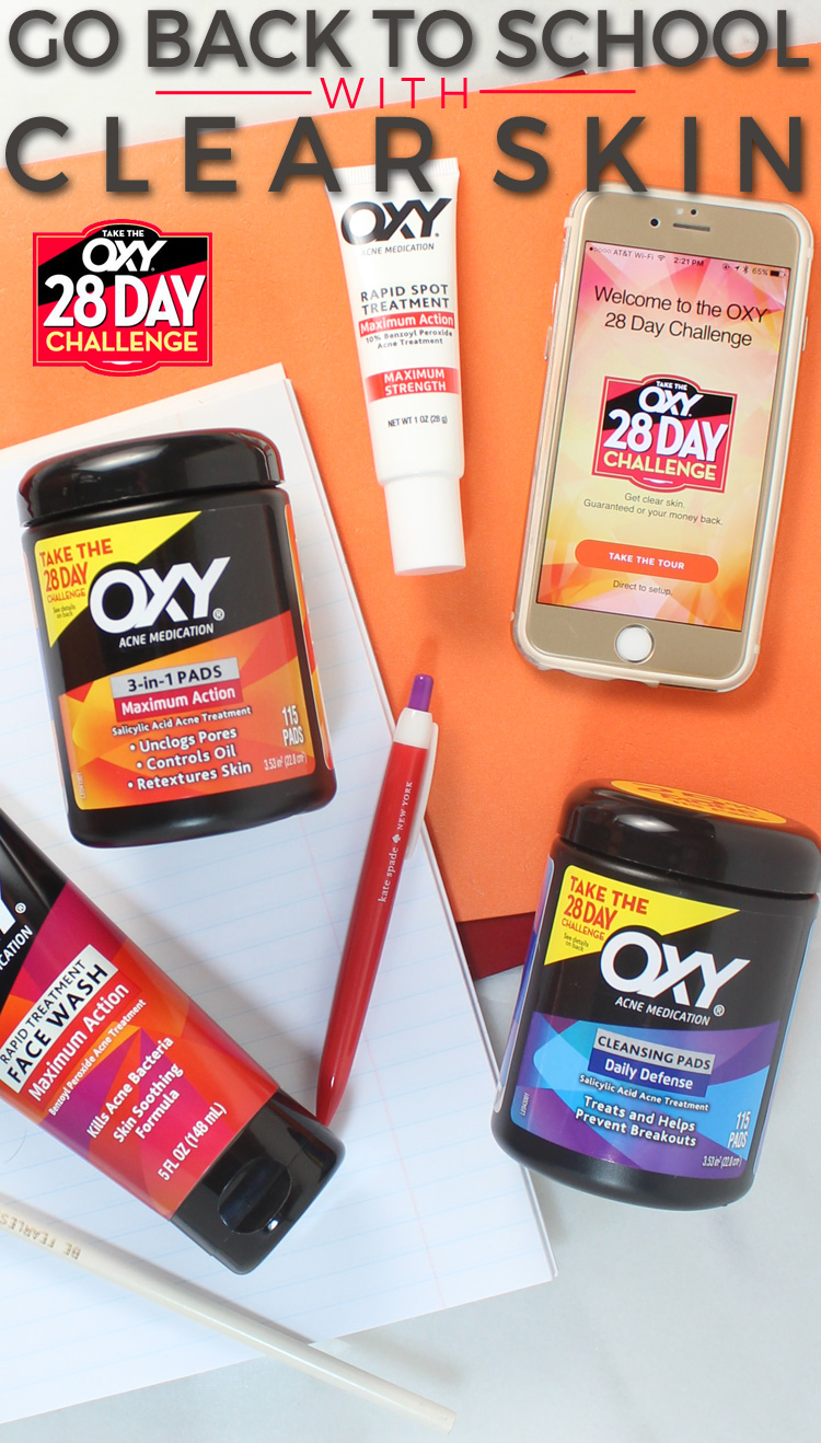 Back to School with Clear Skin with the OXY 28 Day Challenge