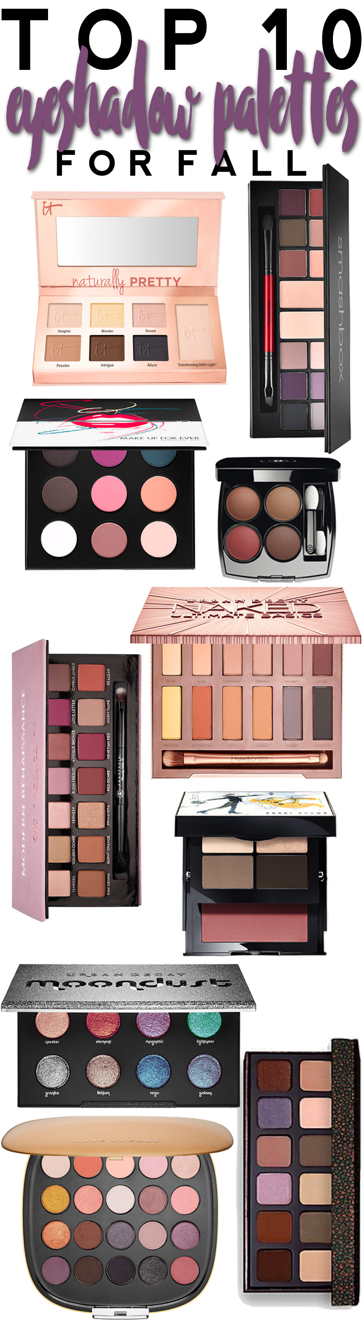 Top 10 Eyeshadow Palettes for Fall