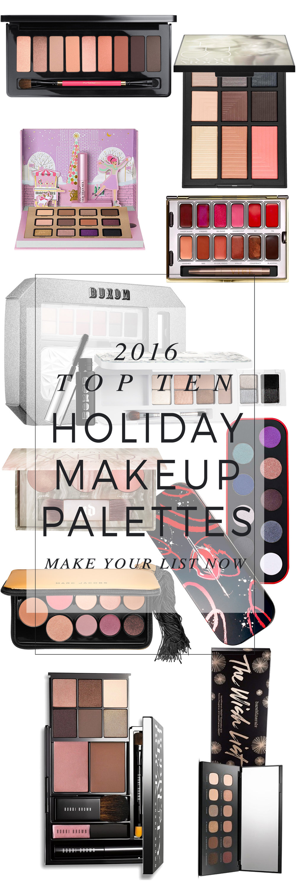 Top 10 Holiday Makeup Palettes
