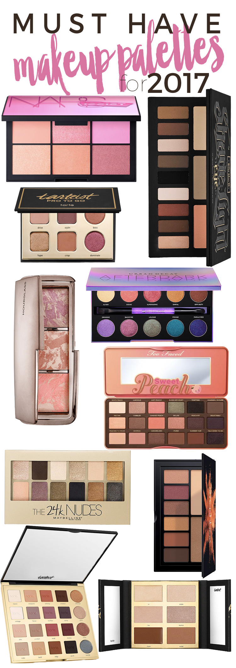 Eyeshadow Palette: 10 Must Have Makeup Palettes For 2017!