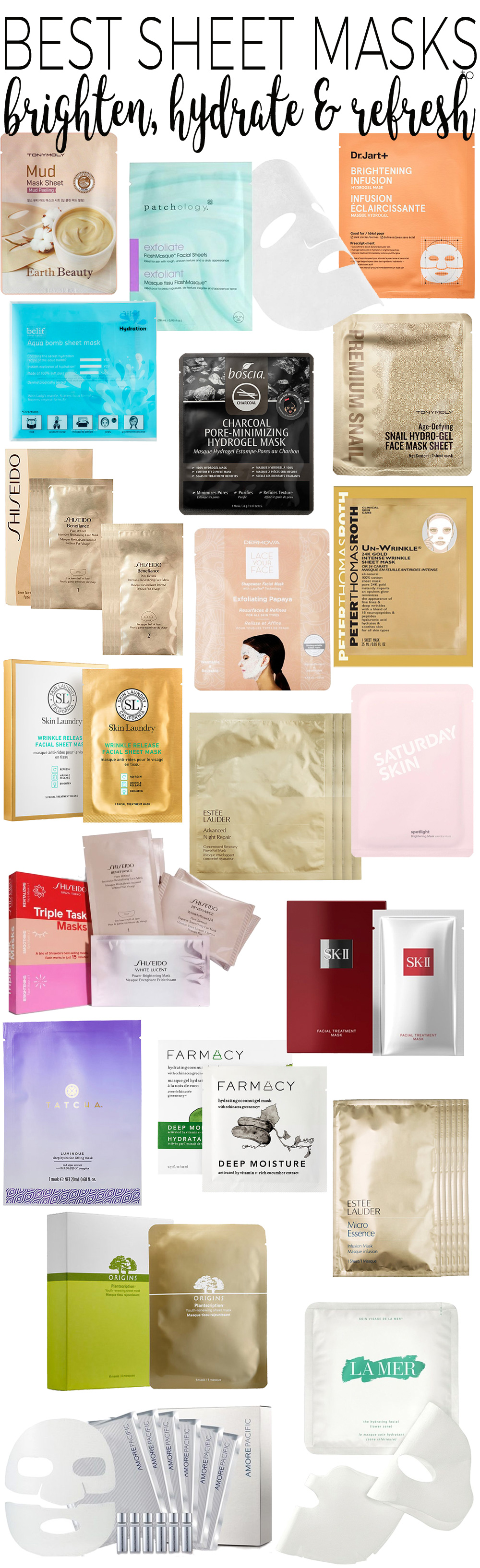 Top 20 Sheet Masks to Brighten, Hydrate and Refresh Skin