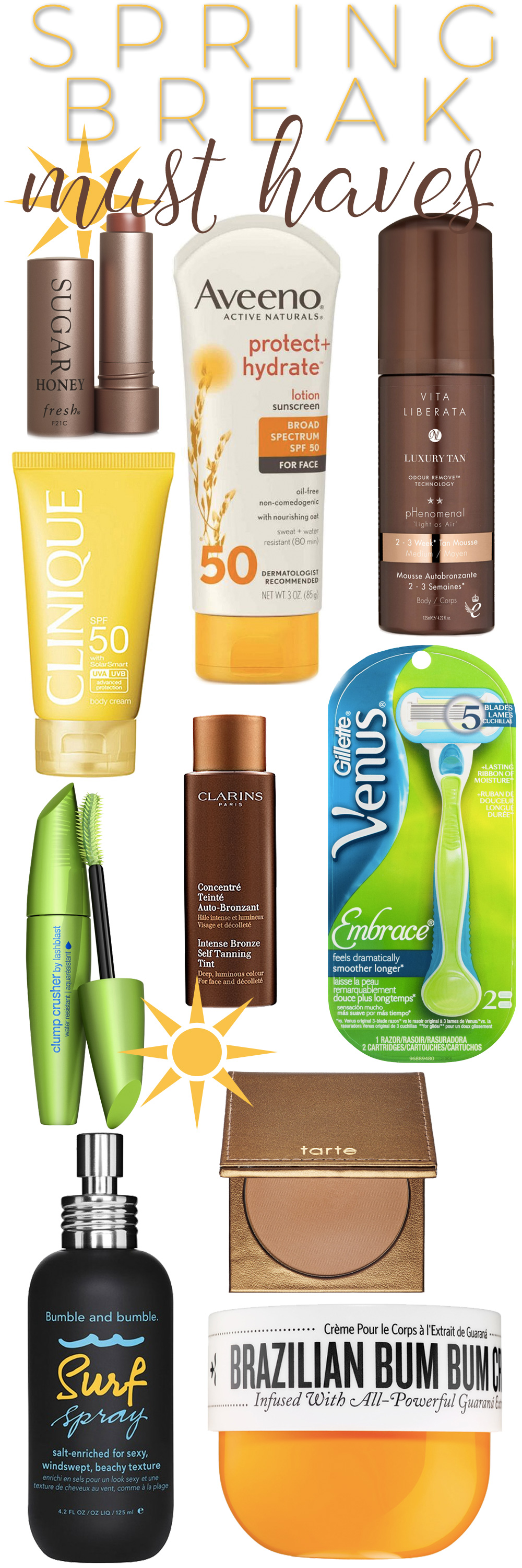 Top 10 Spring Break Beauty Essentials