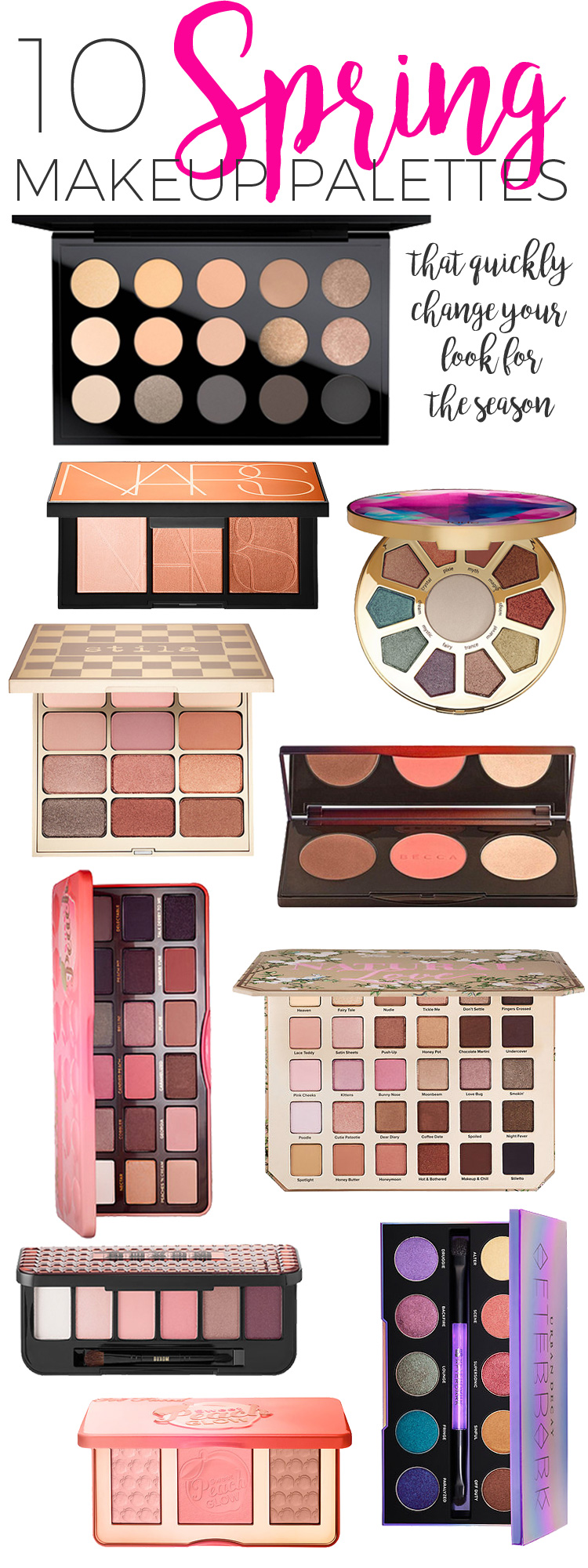 Top 10 Spring Makeup Palettes for 2017