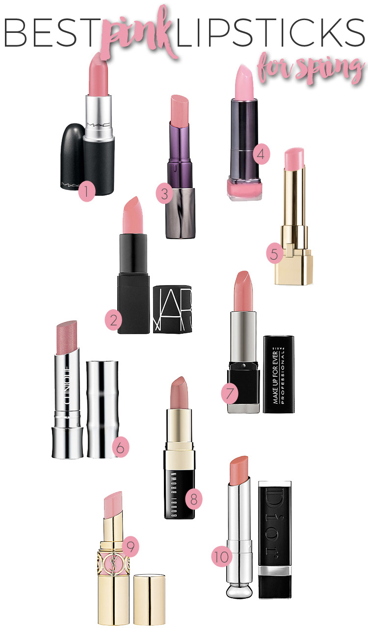 The Best Pink Lipsticks for Spring