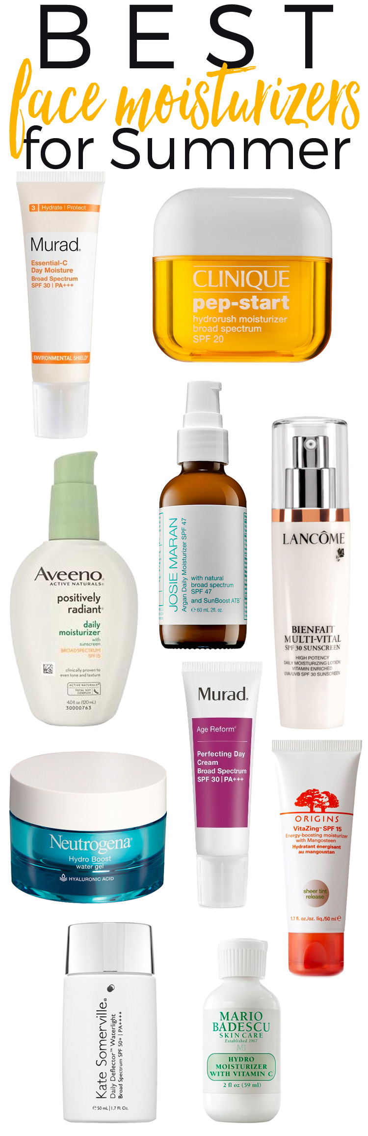 The Best 10 Face Moisturizers for Summer