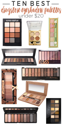 10 Eyeshadow Palettes Under $20