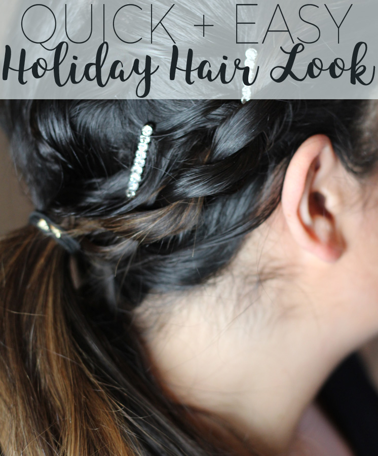 Quick + Easy Last-Second Holiday Hair Look