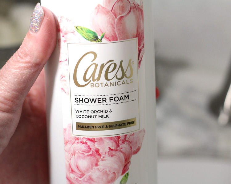 Caress White Orchid Shower Foam