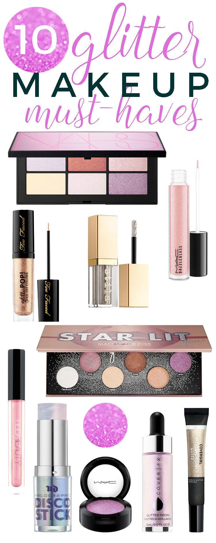 10 Glitter Makeup Must-Haves to Be on Trend with this Year's Updated Glitter Look