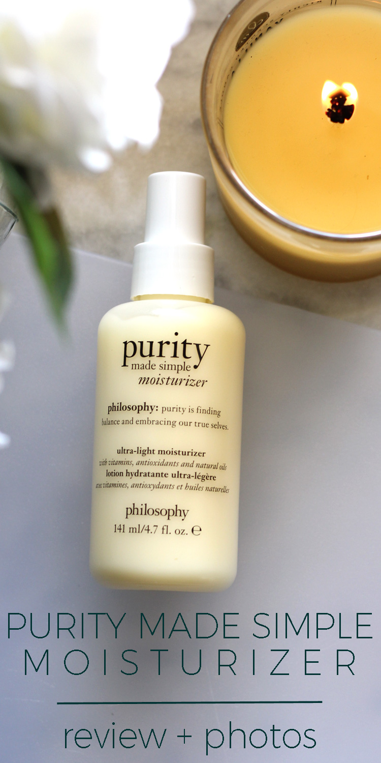 Philosophy Purity Made Simple Ultra-Light Moisturizer Review & Photos
