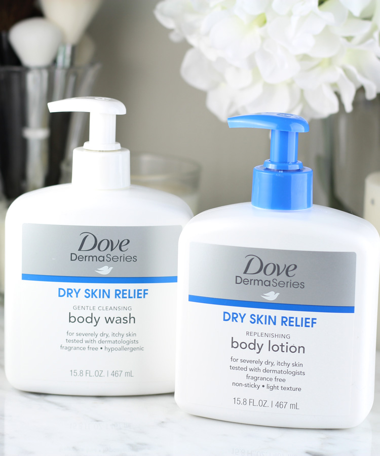 Dove DermaSeries Body Wash and Body Lotion