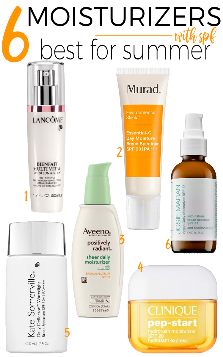 6 moisturizers with SPF that are best for summer