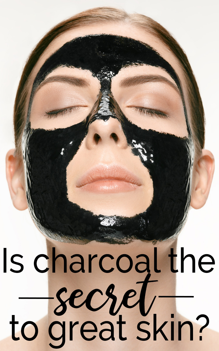 Is charcoal the secret to great skin? Woman Charcoal Face Mask