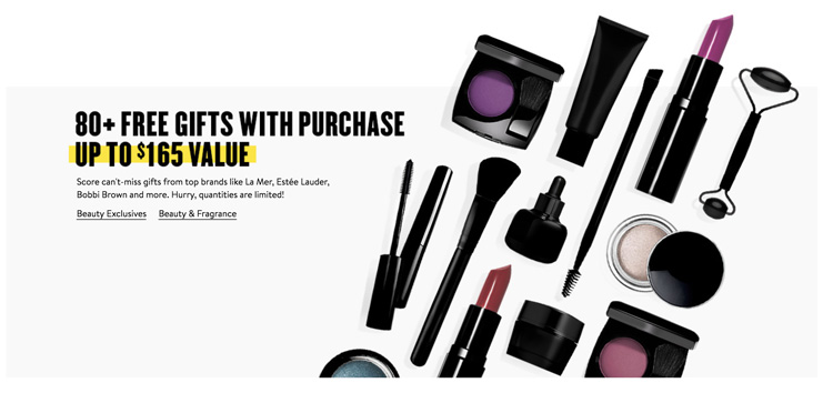 NSALE Beauty Gifts with Purchase 2018