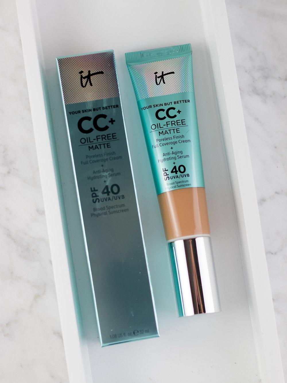 IT Cosmetics CC+ Cream Oil-Free Matte SPF 40 Review + Photos