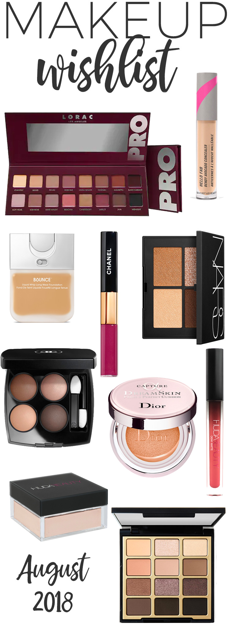 Makeup Wishlist for August 2018