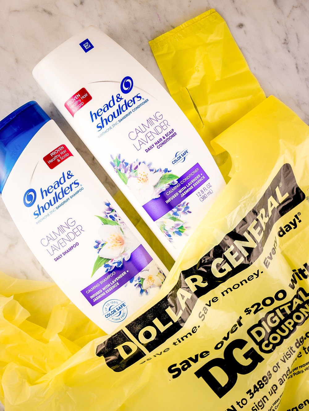 Head & Shoulders Calming Lavender Shampoo and Conditioner at Dollar General