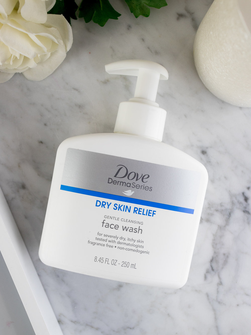 Dove DermaSeries Dry Skin Relief Gentle Cleansing Face Wash
