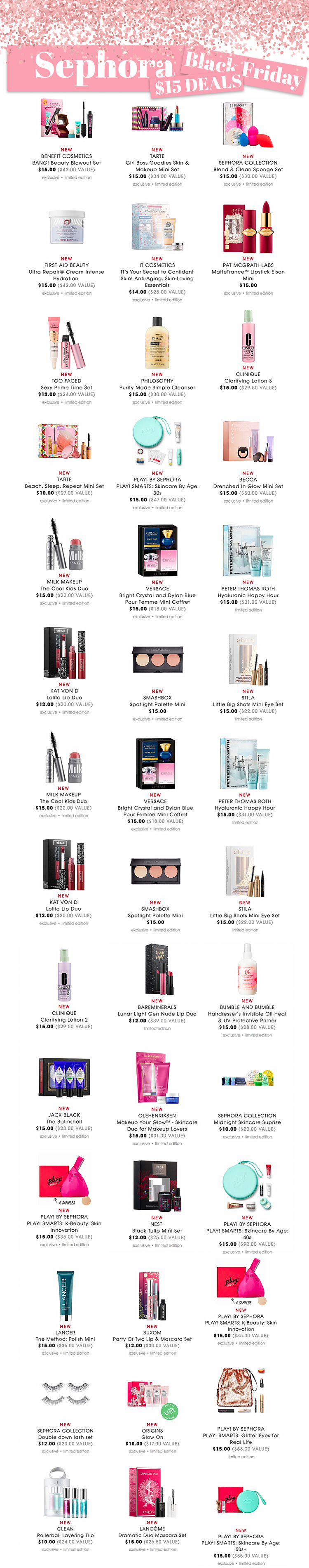 Sephora $15 Black Friday Deals 2018