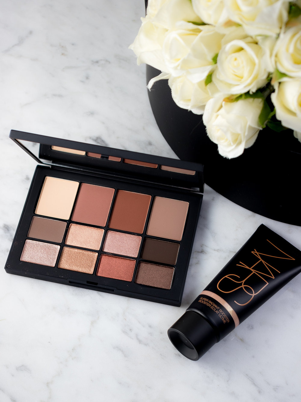 NARS Skin Deep Eye Palette and NARS Super Radiant Booster