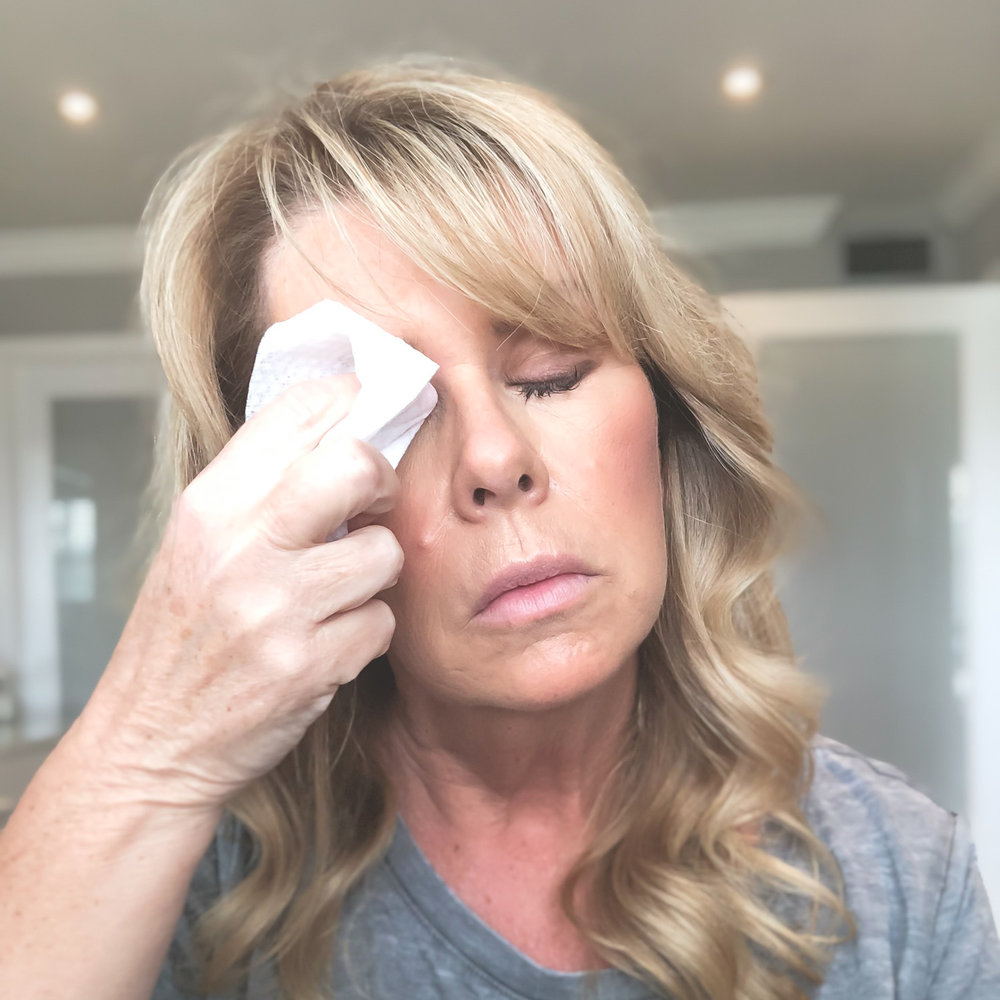 Removing Makeup with Simple Cleansing Wipe
