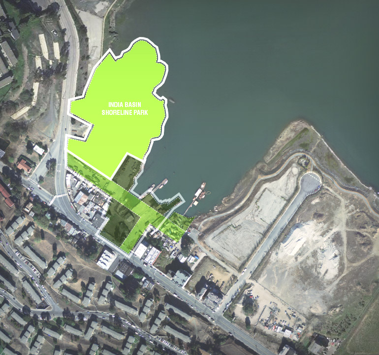 The Sites India Basin Waterfront Parks