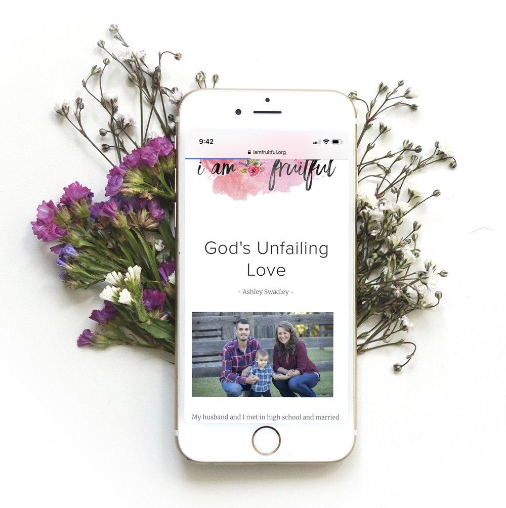 God's Unfailing Love by Ashley Swadley