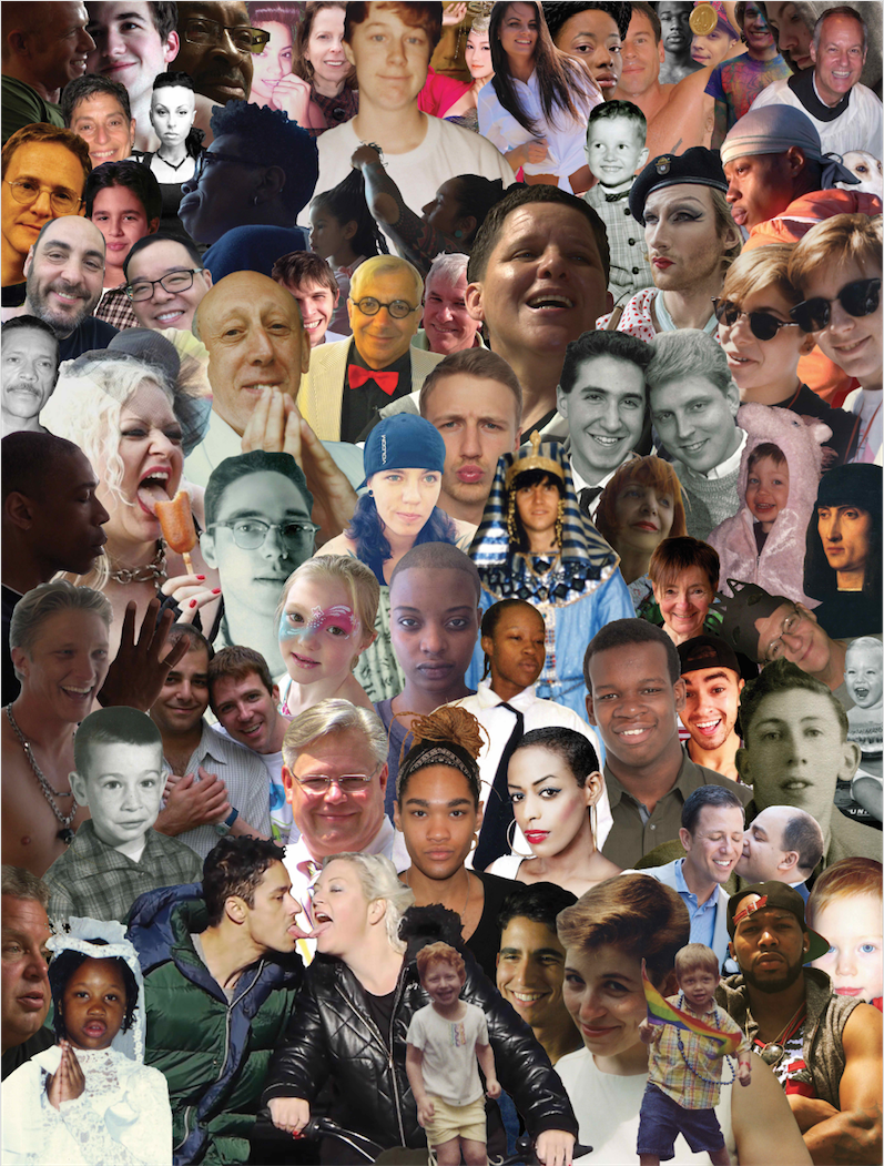 The full collage for Queer City
