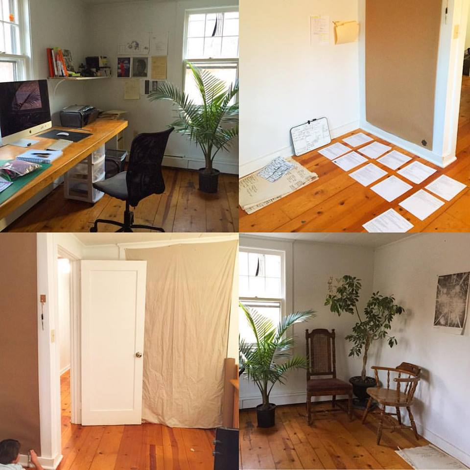 My studio in Ghent, NY, down the hall from my bedroom