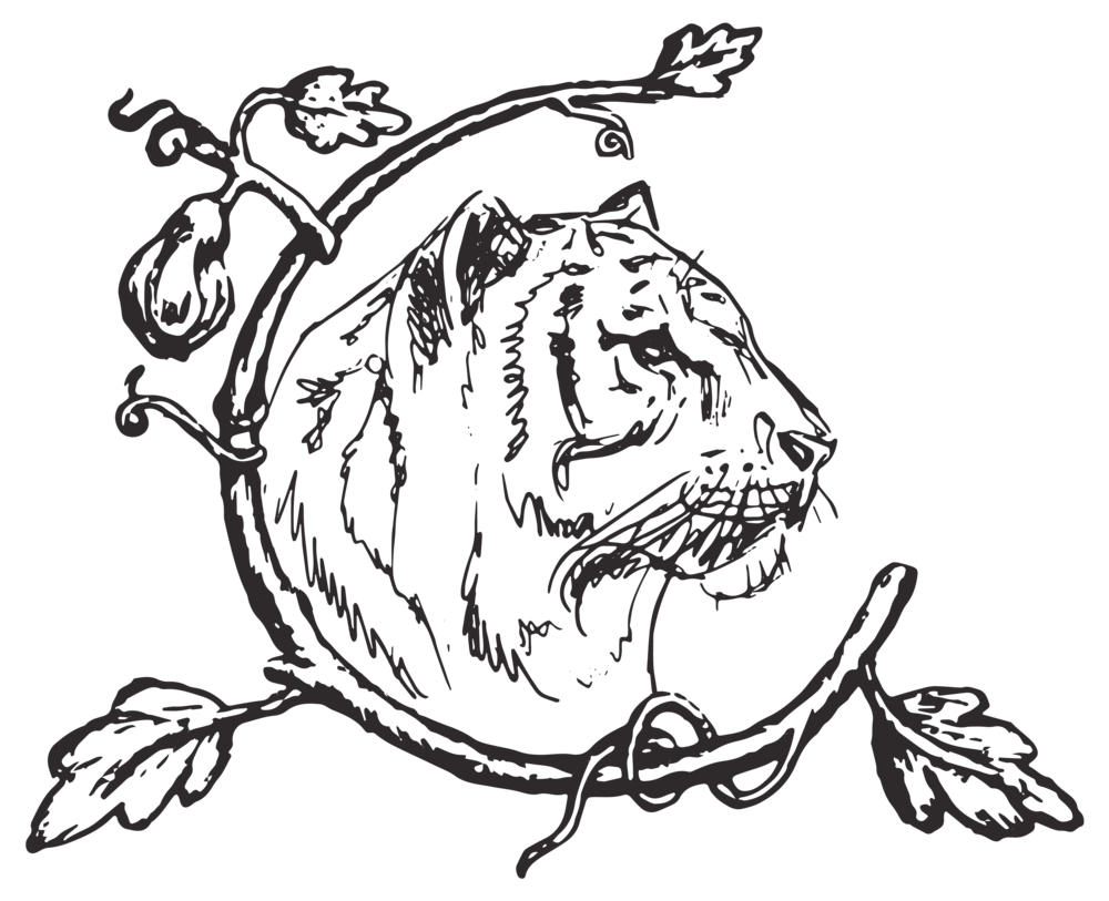 Tiger House - Secondary logo (rgb:web) - Icon - B&W - Transparent background.png