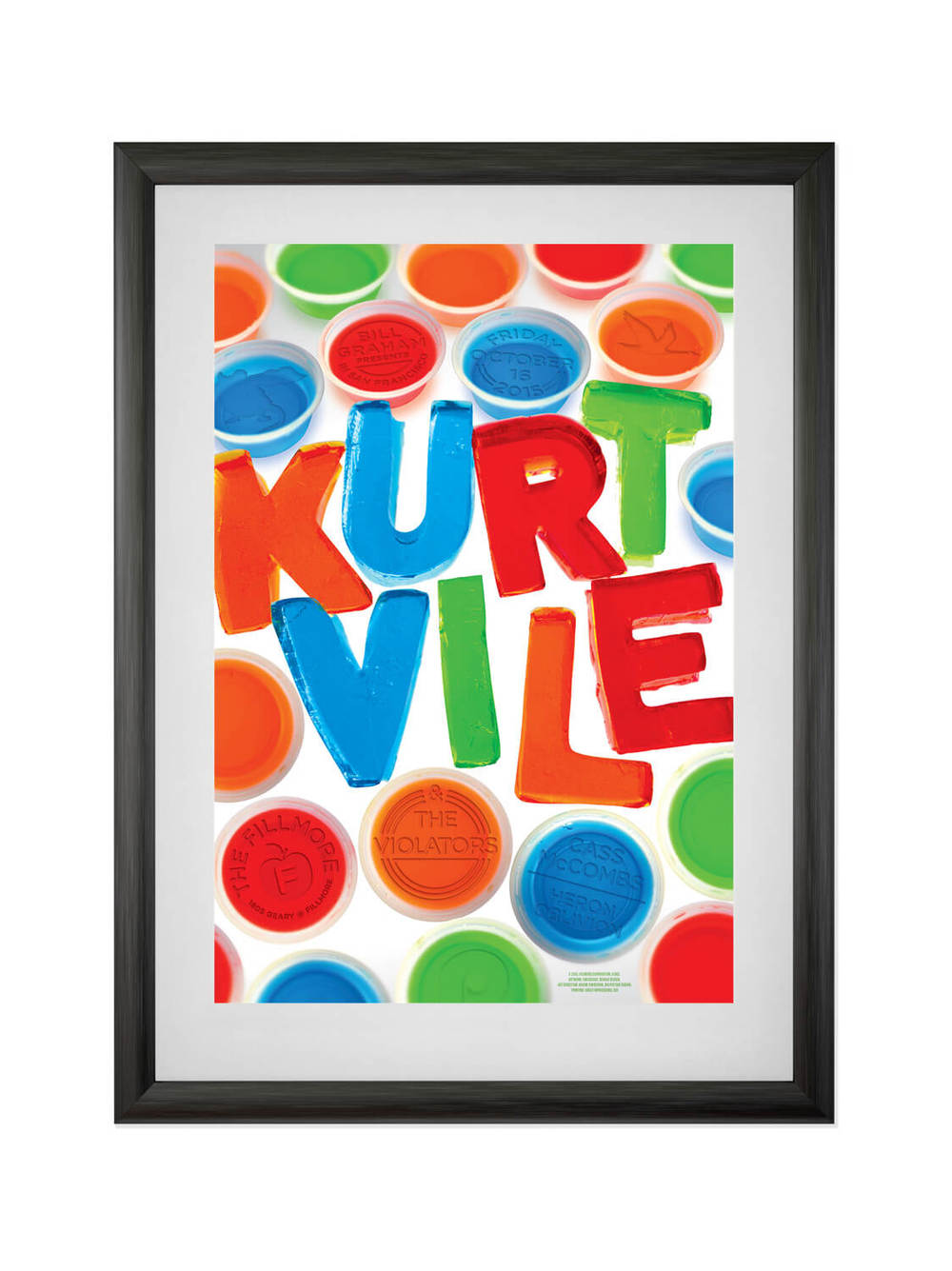 KURT VILE & THE VIOLATORS • FILLMORE SF • 10/15/2015 Poster for Philadelphia's favorite son, Kurt Vile. Buy now.