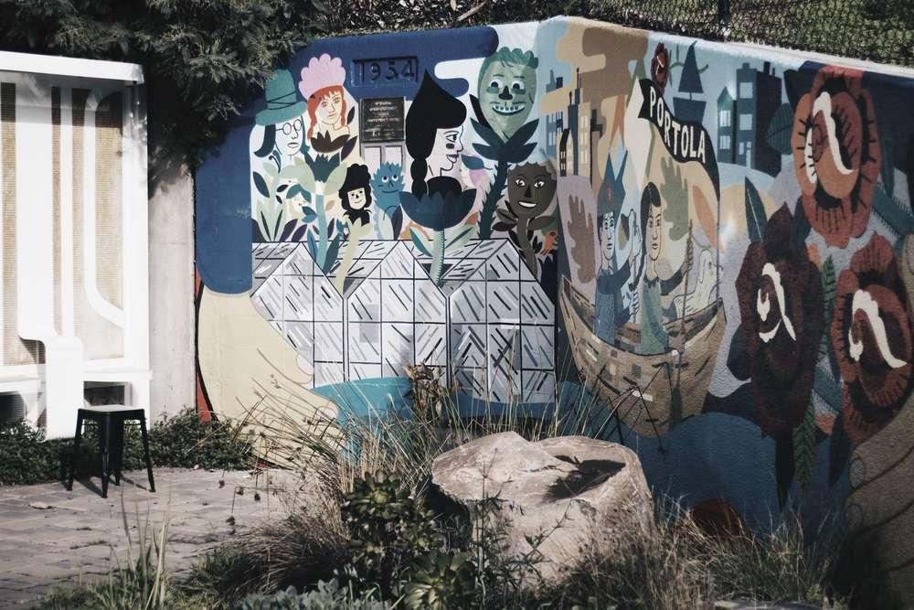 Four Barrel Coffee Shop Mural
