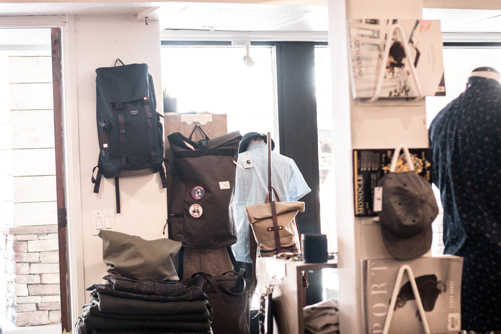 the commuter rolltop backpack by unsettle co at lone flag