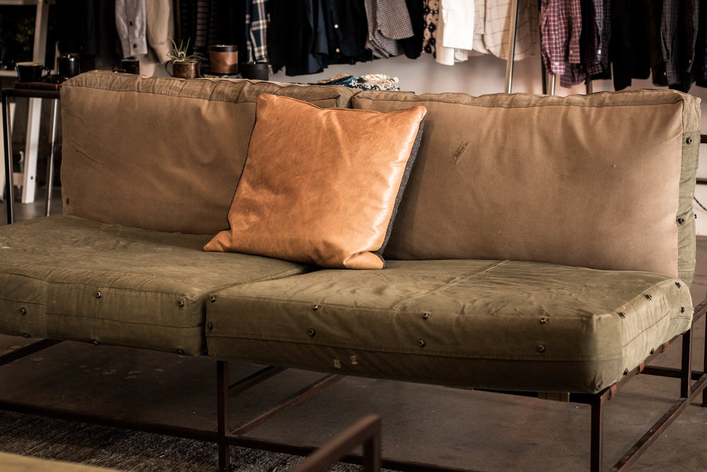 couch and furniture designed by stephen kenn lone flag