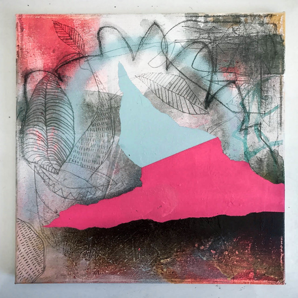 abstract art on canvas by bret brown