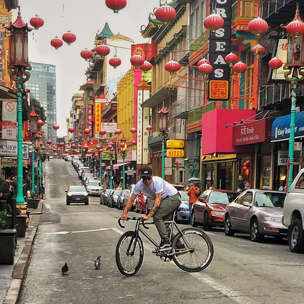 chas christiansen cycling in chinatown