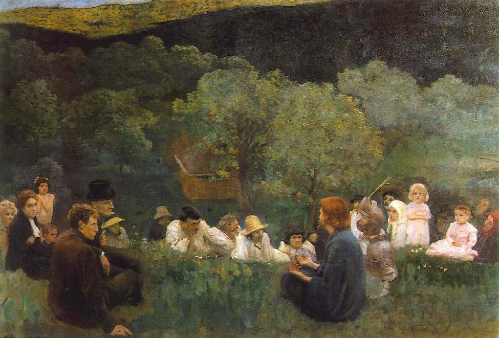 """Károly Ferenczy, """"A hegyi beszéd [(The sermon on the mount)]"""" (1896)"""