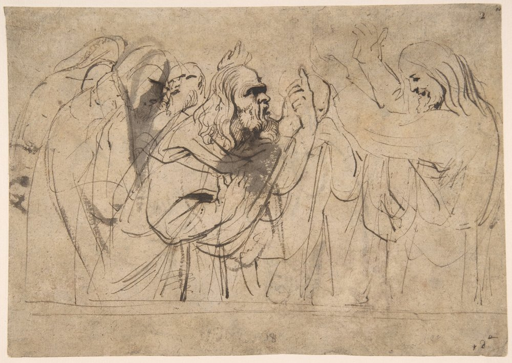 """Christ & the Pharisees""; Anthony van Dyck (Flemish, Antwerp 1599–1641 London)"