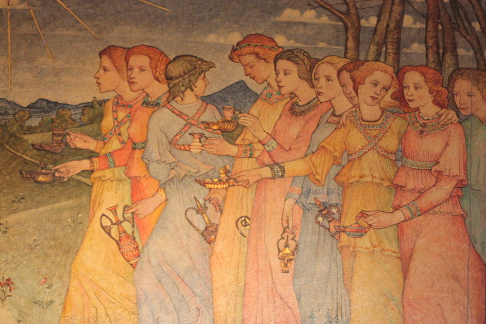 Phoebe Anna Traquair (1852-1936): Parable of the Wise & Foolish Virgins