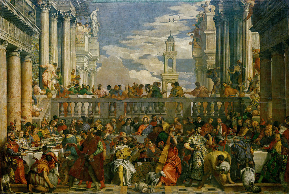 image:  The Wedding Feast at Cana , Paolo Veronese, 1563