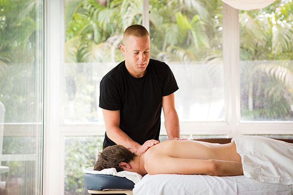 Brent Posey of the Waldorf Astoria Naples Spa believes in the healing power of touch.
