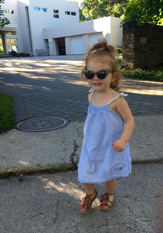 Sunglasses from  Target , Dress from H&M, Sandals from  Old Navy