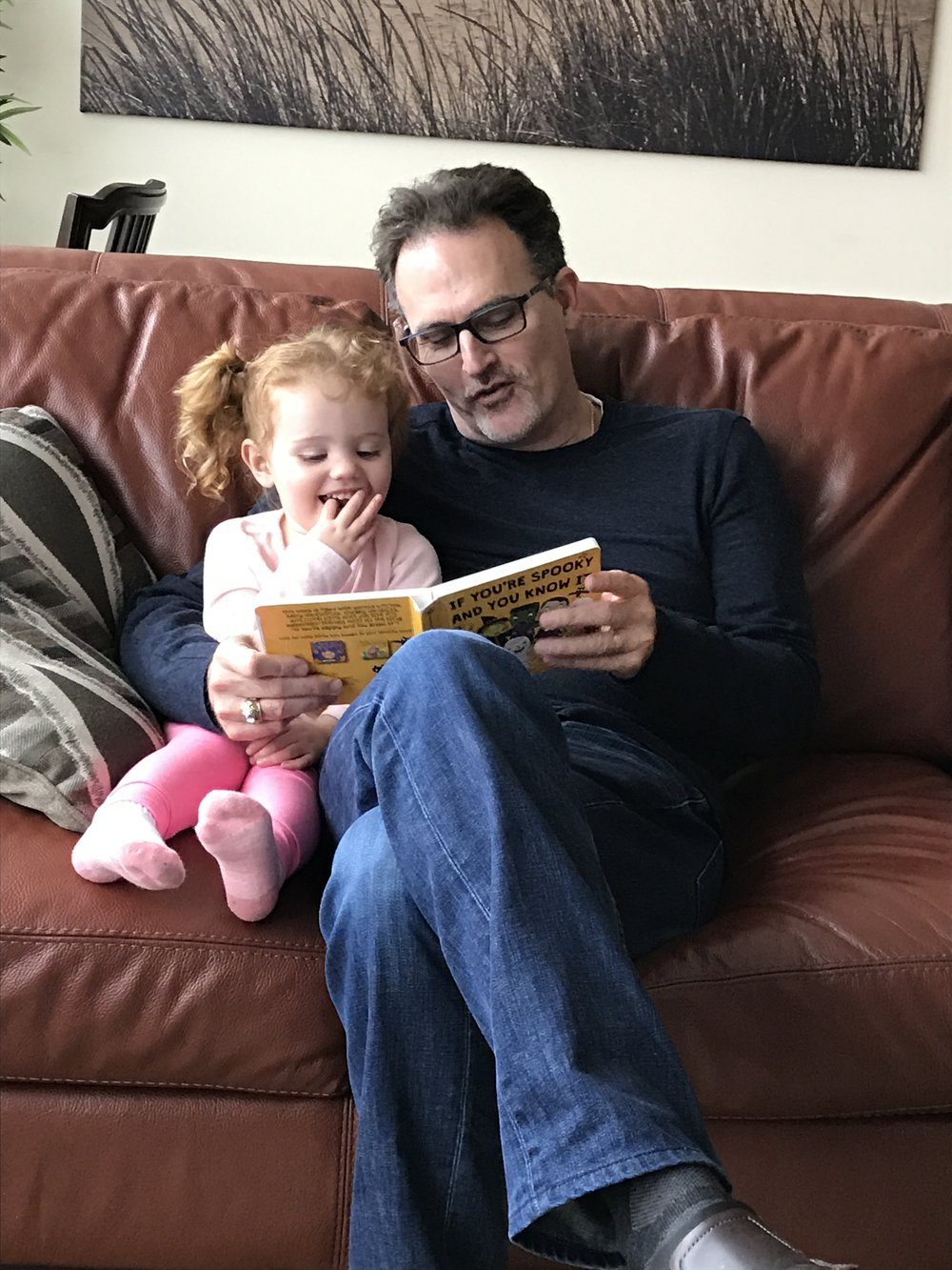 My Father and Josie reading together :)
