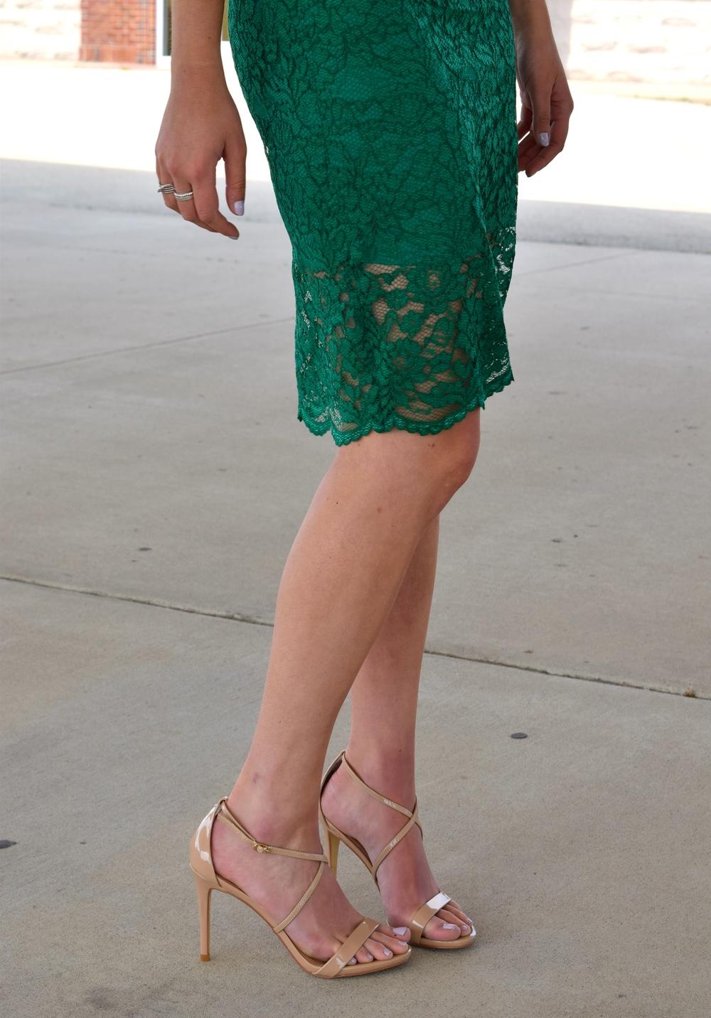 Emerald Lace Midi
