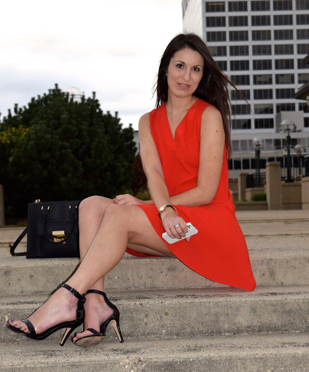 JCrew red dress