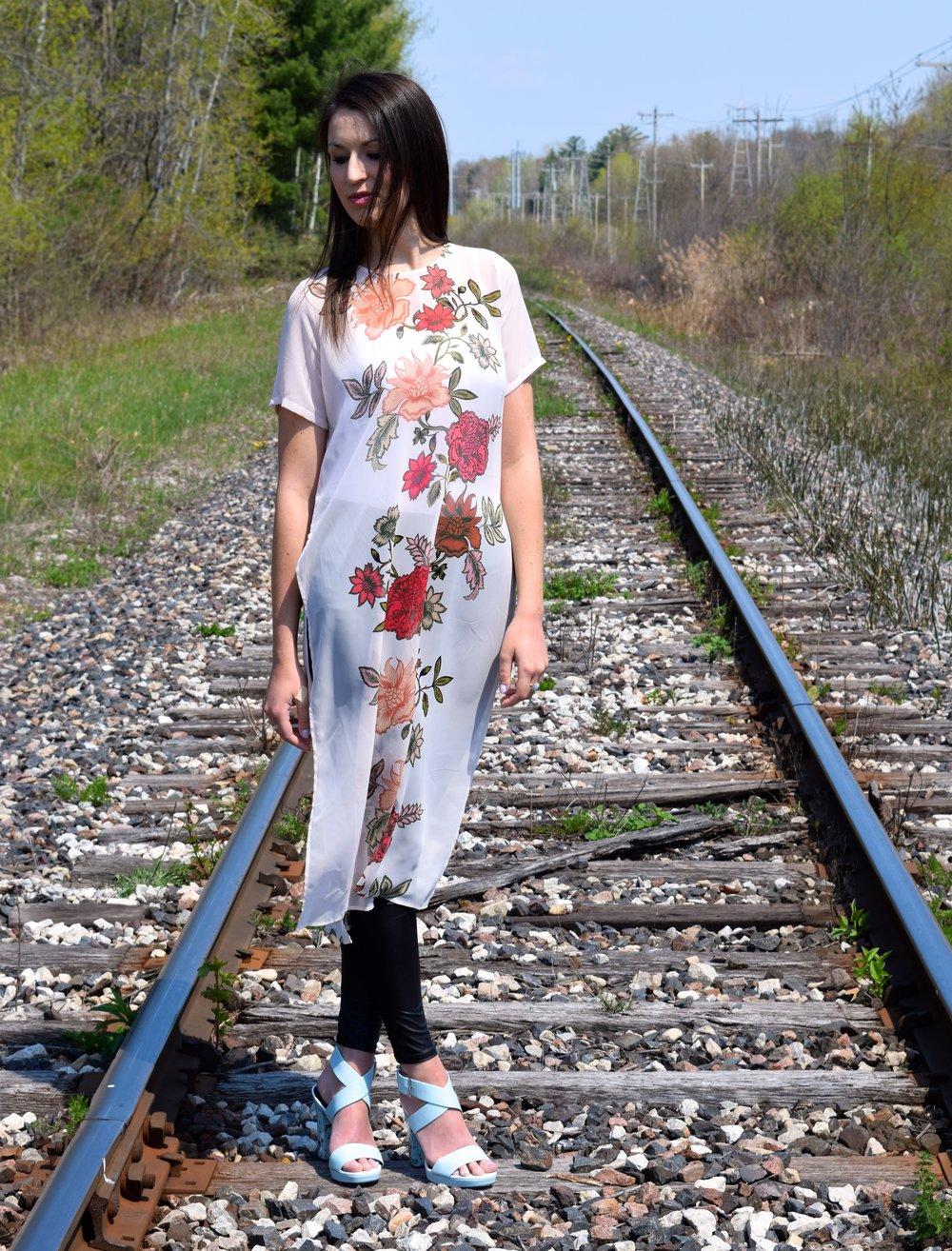 Maxi Shirt + Florals