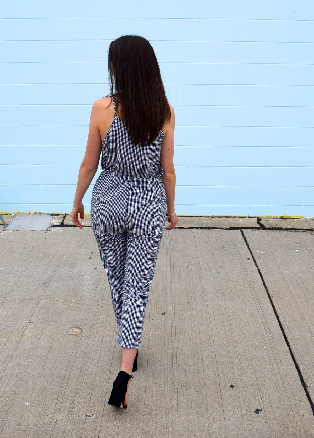 Tobi Gingham Jumpsuit